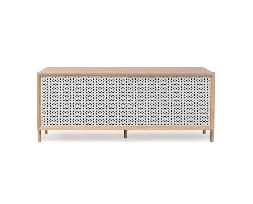 Harto - Gabin Sideboard ohne Schubladen - Eiche - B 122 cm - lichtgrau - 2