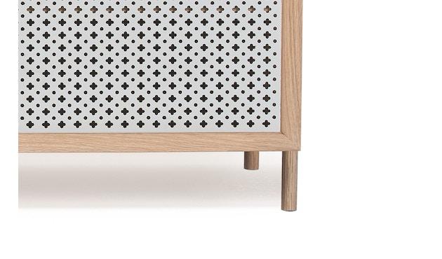 Harto - Gabin Sideboard ohne Schubladen - Eiche - B 122 cm - lichtgrau - 6
