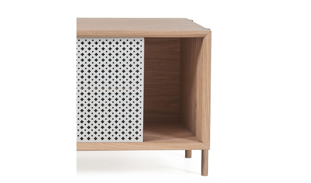 Harto - Gabin Sideboard ohne Schubladen - Eiche - B 122 cm - lichtgrau - 7