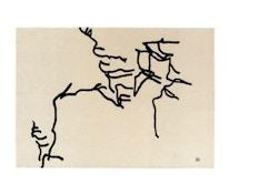 Nanimarquina - Dibujo tinta 1957 Teppich von Eduardo Chillida