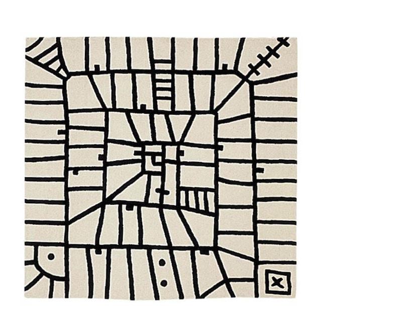 Nanimarquina - Black on white Teppich - Limbo - 250 x 250 - 1