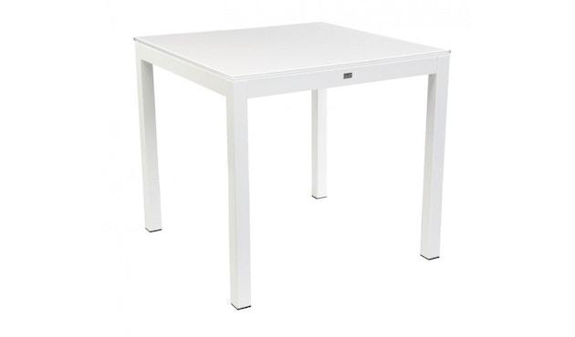 Jan Kurtz - Quadrat Tisch - 90x90 - Gestell weiß - HPL weiß - 4
