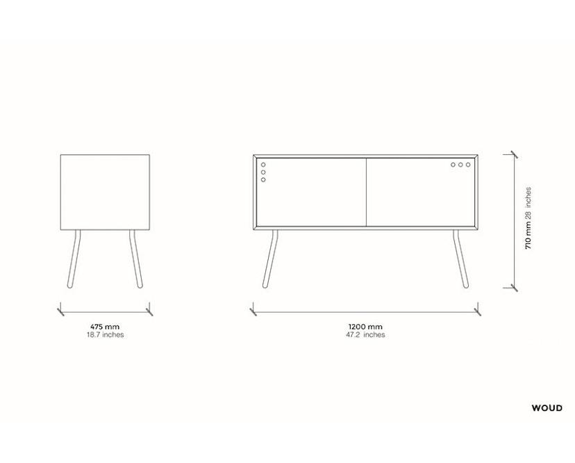 Woud - Geyma Sideboard - Black/grey - hoch - 6