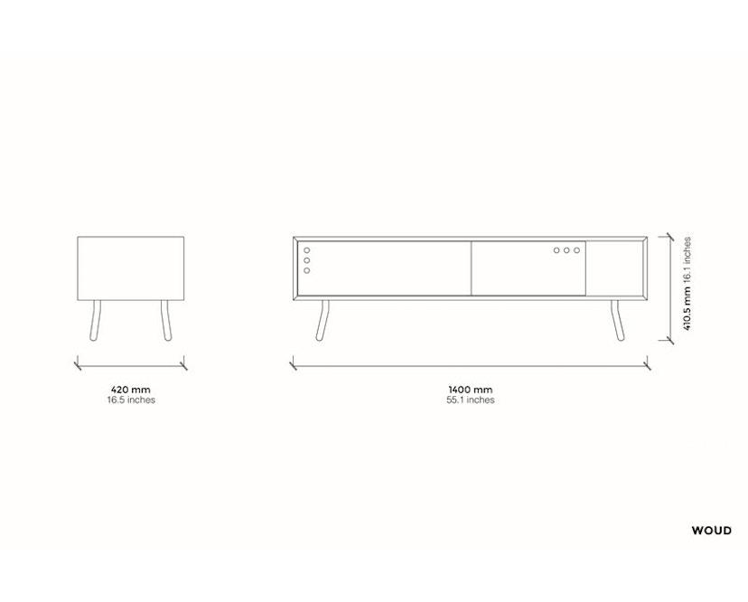 Woud - Geyma Sideboard - Black/grey - tief - 6