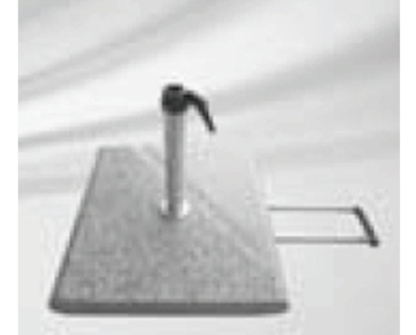 Glatz - Granitsockel Z mit Rollen - Stahl verzinkt - 1
