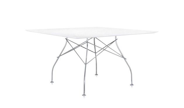 Kartell - Glossy Tisch - quadratisch - weiß - 1