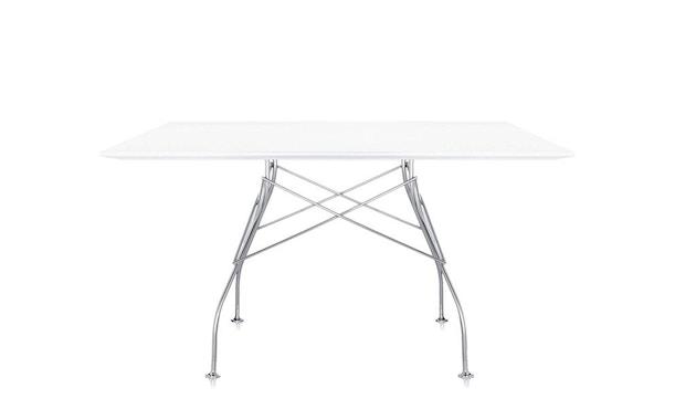 Kartell - Glossy Tisch - quadratisch - weiß - 2