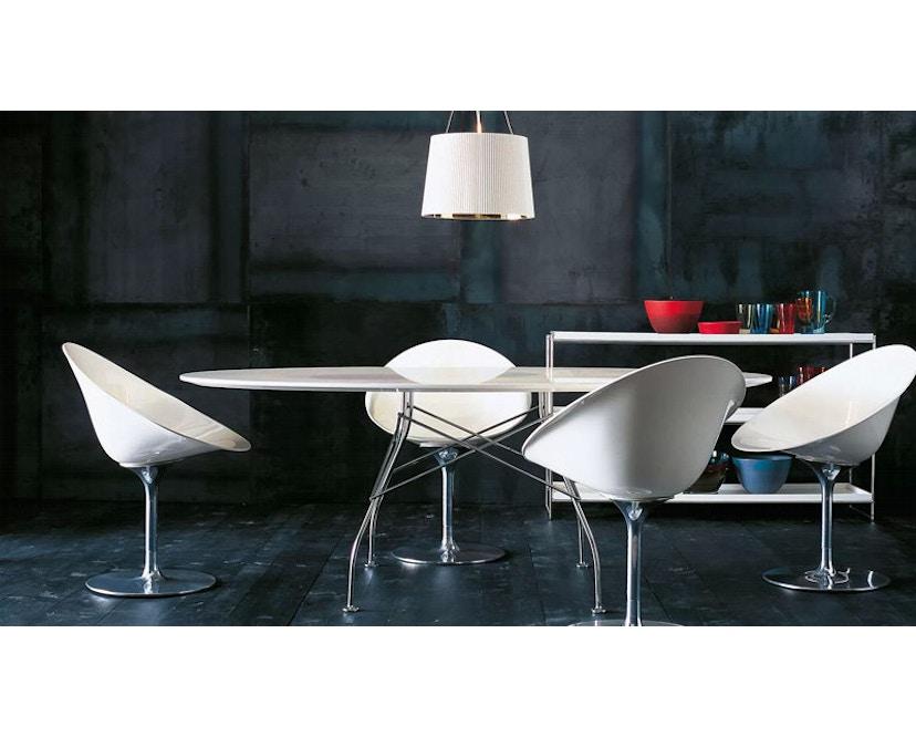 Kartell - Glossy Tisch - quadratisch - weiß - 5