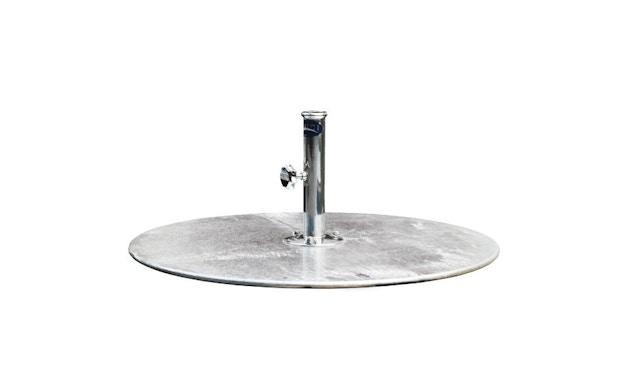Tuuci - Schirmständer G-Plate Stahlplatte rund - Ø 61 cm - silber - 1