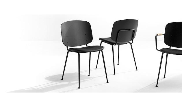Houe - Grapp Dining Stuhl - Lederpolster schwarz - 3