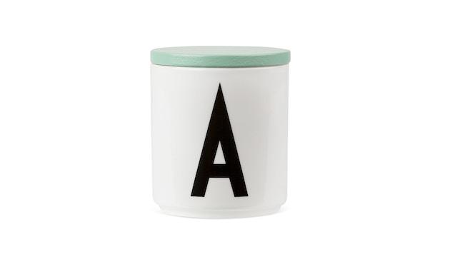 DESIGN LETTERS - Houten deksel voor Personal beker porselein - groen - 1