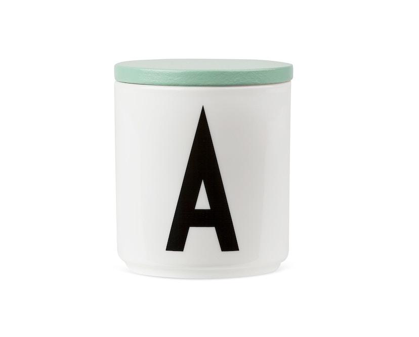 DESIGN LETTERS - Holzdeckel für Personal Porzellanbecher - grün - 1