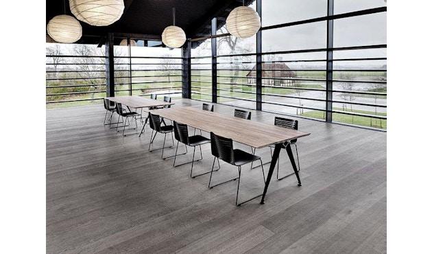 Randers + Radius - GRIP Basic tafel - 239 - 80 cm - wit - Zonder stekkerdoos - zwart - 13