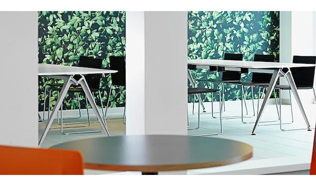 Randers + Radius - GRIP Basic tafel - 239 - 80 cm - wit - Zonder stekkerdoos - zwart - 14