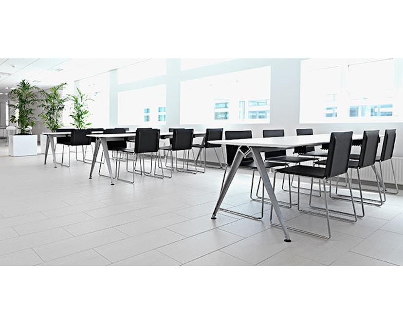 Randers + Radius - GRIP Basic tafel - 239 - 80 cm - wit - Zonder stekkerdoos - zwart - 16