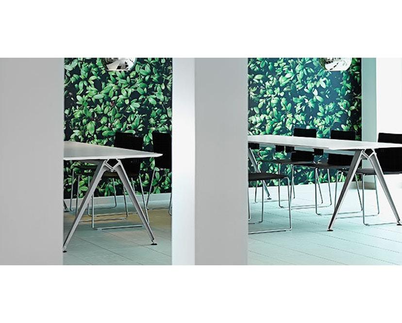 Randers + Radius - GRIP Basic tafel - 239 - 80 cm - wit - Zonder stekkerdoos - zwart - 17