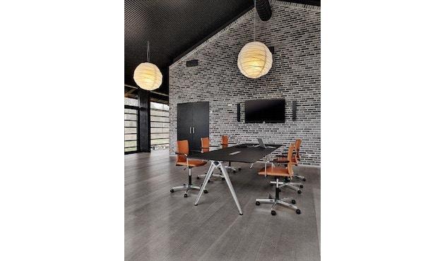 Randers + Radius - GRIP Basic tafel - 239 - 80 cm - wit - Zonder stekkerdoos - zwart - 18