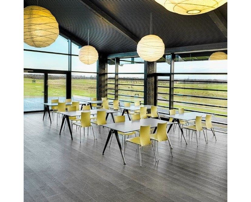 Randers + Radius - GRIP Basic tafel - 239 - 80 cm - wit - Zonder stekkerdoos - zwart - 19