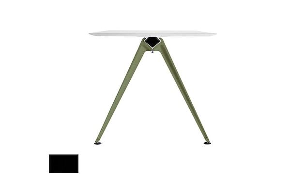 Randers + Radius - GRIP Basic tafel - 239 - 80 cm - wit - Zonder stekkerdoos - zwart - 4