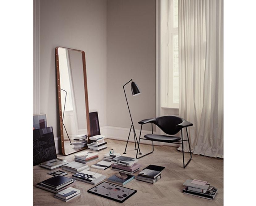 Gubi - Adnet Spiegel Rectangulaire - M 115 x 70 cm - zwart - 2