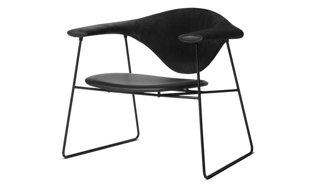 Gubi - Masculo Lounge Chair - zwart - 1