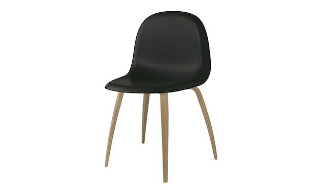 Gubi - Gubi 3D Dining Stuhl - Gestell Eiche - tief schwarz - 1