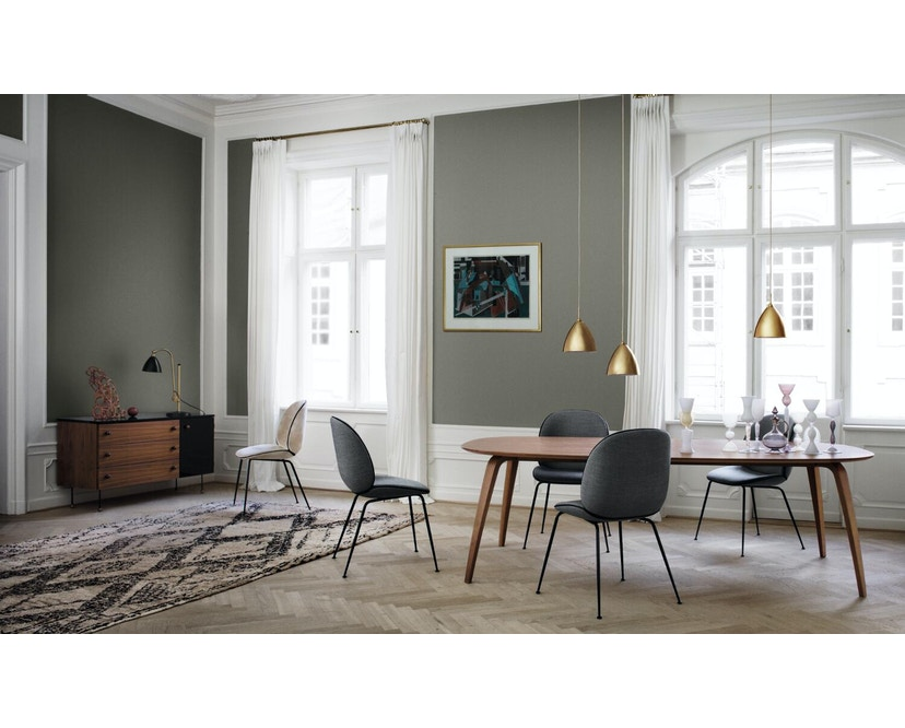 Gubi - Gubi Dining Table - Walnuss - rund - 3