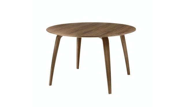 Gubi - Gubi Dining Table - Walnuss - rund - 1