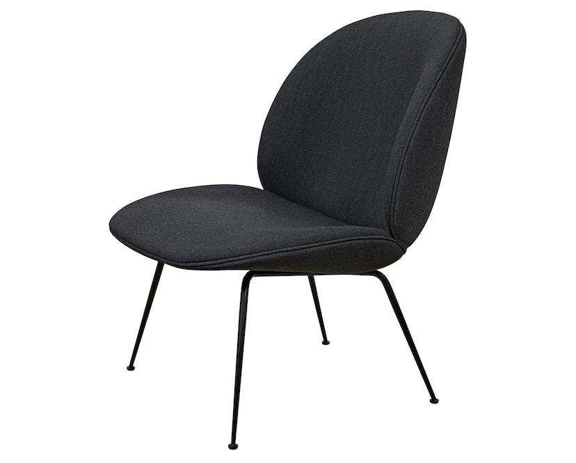 Gubi - Beetle Lounge Chair - schwarzes Gestell - schwarz - 1