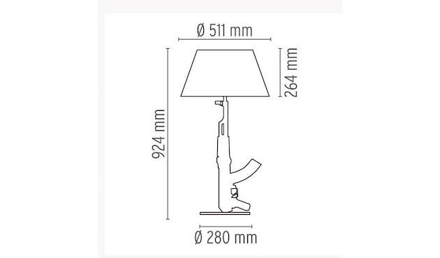 Flos - Table Gun tafellamp - messing - 11