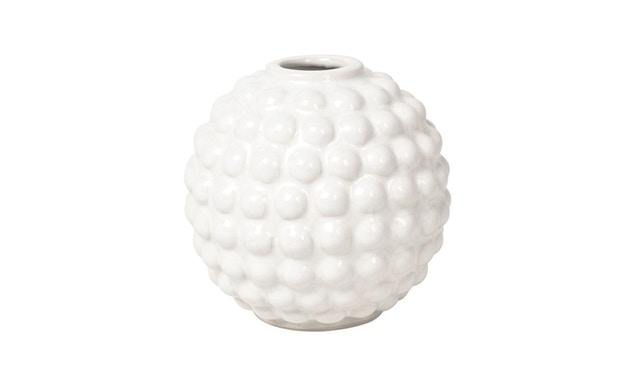 Broste Copenhagen - Dotty Vase - Ivory - rund - 0