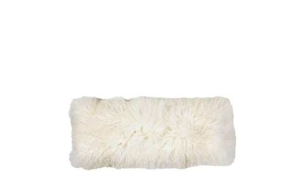Broste Copenhagen - Lamb Lammfell Kissen - 35 x 91 - White - 0