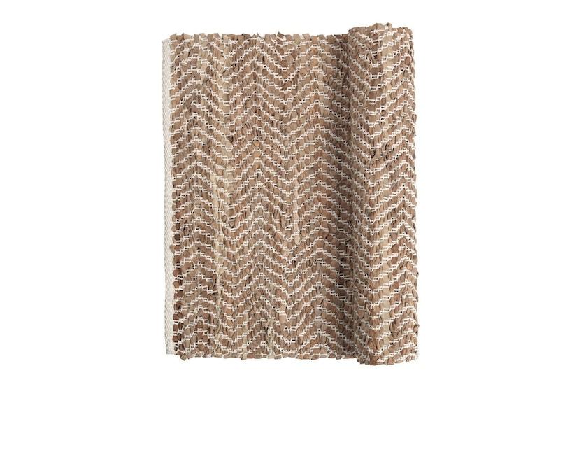 Broste Copenhagen - Zigzag Teppich - 60 x 90 cm - Camel - 0