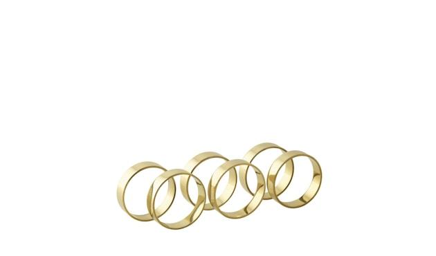 Broste Copenhagen - Napkin Ring - 6er Set - Shiny Brass - 1