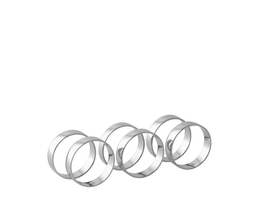 Broste Copenhagen - Napkin Ring - 6er Set - Iron Nickel - 1