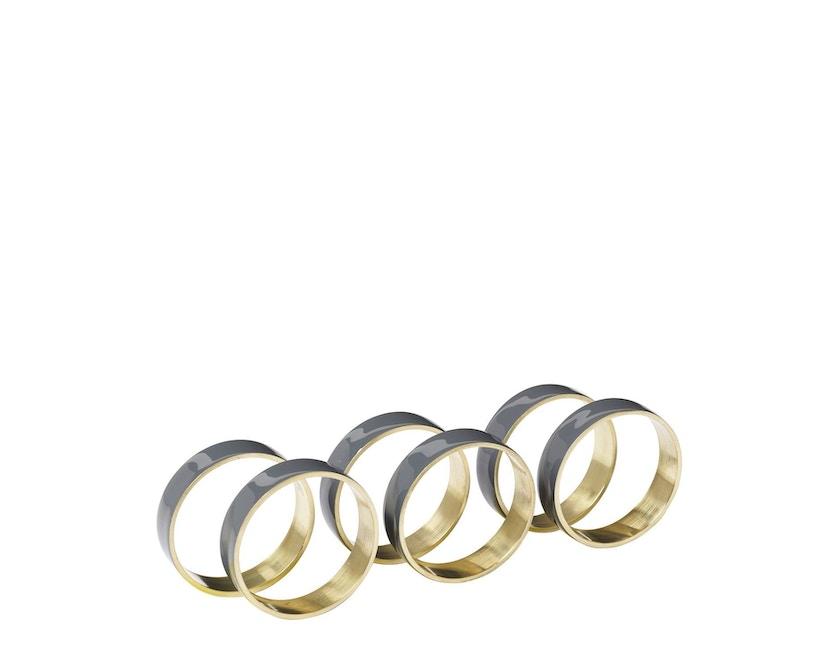 Broste Copenhagen - Napkin Ring - 6er Set - Brass Enamel - Castlerock - 1