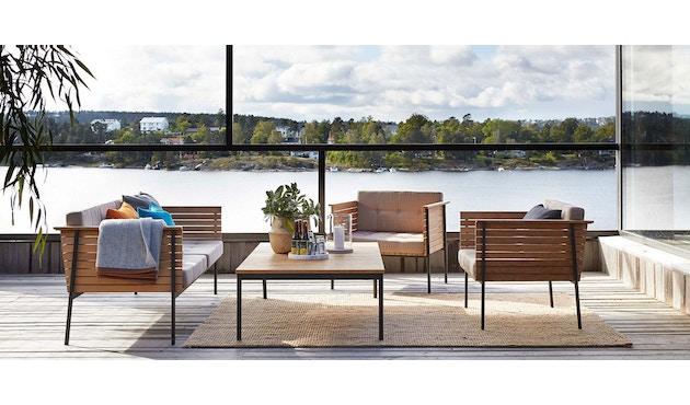 Skargaarden - Häringe Lounge Tisch - 85 x 85 cm - Stahlgestell gebürstet - 2