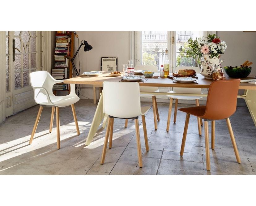 Vitra - Hal Wood stoel - Eiken licht - Eiken donker - zwart - 2