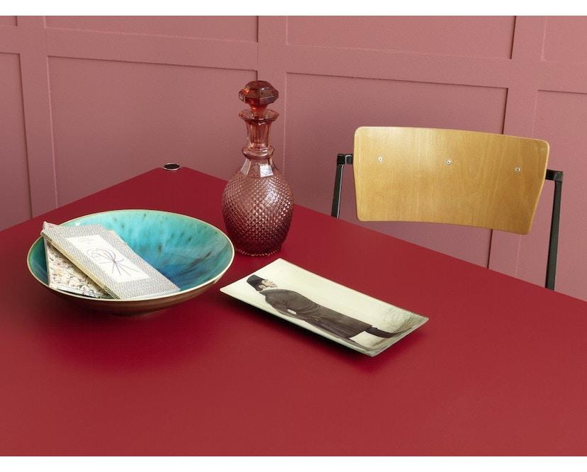 USM Haller - Haller Tisch 100 x 100 cm - Kunstharz perlgrau - 4