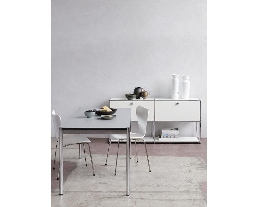 USM Haller - Table Haller 100 x 100 cm - résine synthétique, gris perle - 6