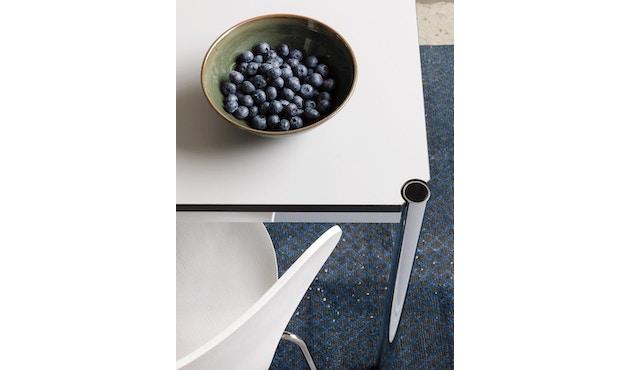 USM Haller - Table Haller 100 x 100 cm - résine synthétique, gris perle - 8