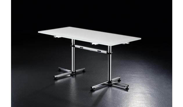USM Haller - Haller Tisch Kitos E2 160 x 80 cm - höhenverstellbar - MDF RAL9010 reinweiss - 1