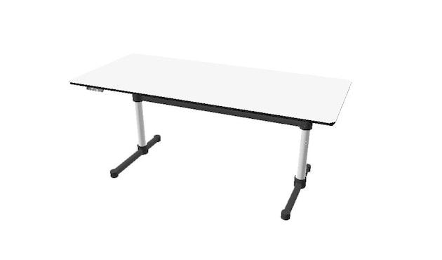 USM Haller - Haller Tisch Kitos E2 175 x 75 cm - höhenverstellbar - Kunstharz perlgrau - 1