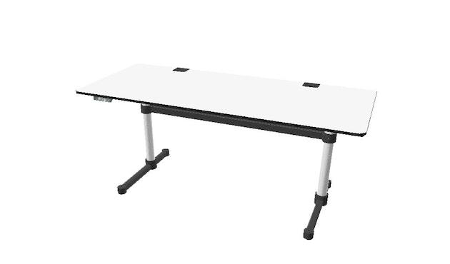 USM Haller - Haller Tisch Kitos E2 Plus 160 x 80 cm - höhenverstellbar - Kunstharz perlgrau - 1