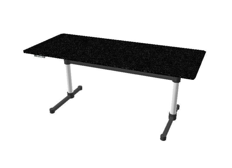 USM Haller - Table Haller Kitos E2 Plus 180 x 90 cm - réglable en hauteur - chêne, noir verni - 10