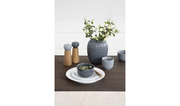 Kähler Design -  Hammershøi Vase - Höhe 10 cm - Anthracite - 4