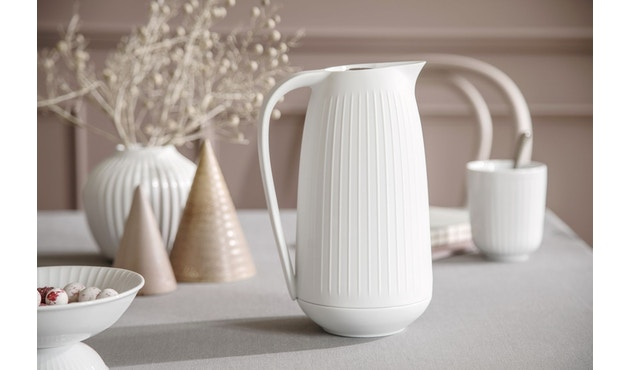 Kähler Design -  Hammershøi Vase - Höhe 12,5 cm - White - 4