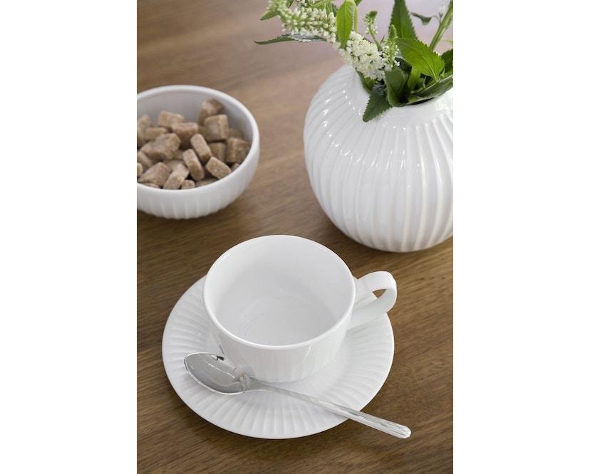 Kähler Design -  Hammershøi Vase - Höhe 12,5 cm - White - 5