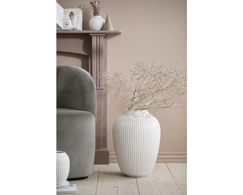 Kähler Design -  Hammershøi Vase - Höhe 12,5 cm - White - 8