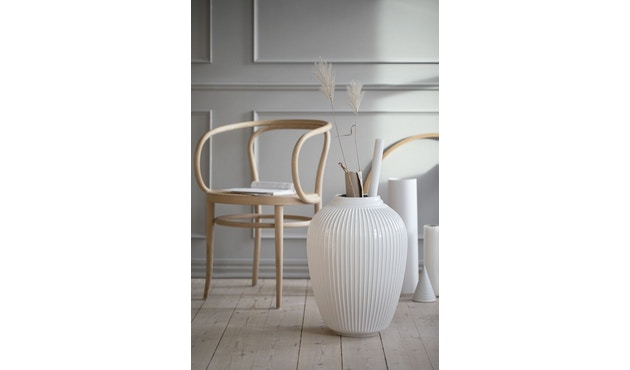 Kähler Design -  Hammershøi Vase - Höhe 12,5 cm - White - 7